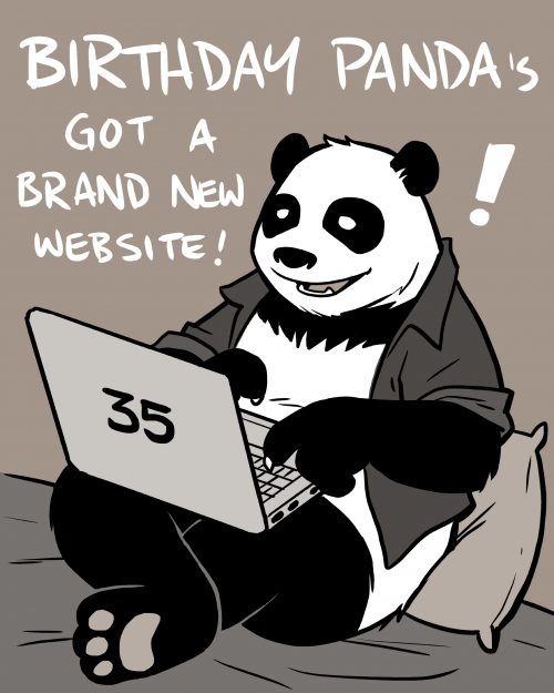 Birthday Panda's got a Brand New Website