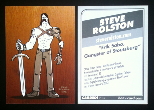 Carded! 2013 trading card by Steve Rolston