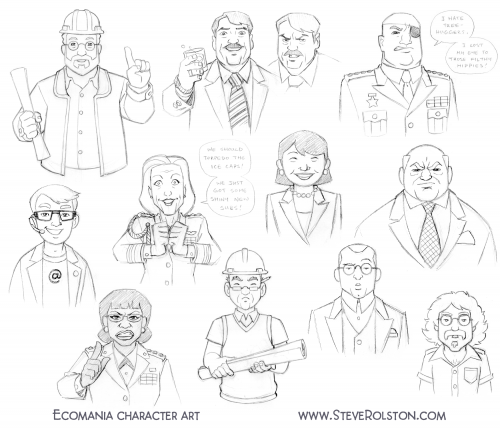 Ecomania Sketches 1