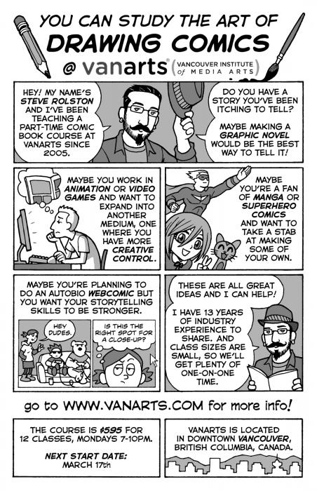 VanArts Comic Flyer