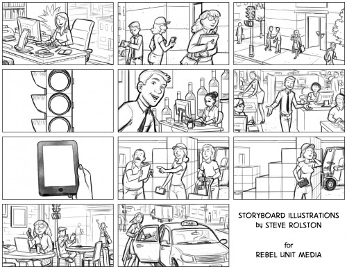 Salesforce Walkabout storyboards