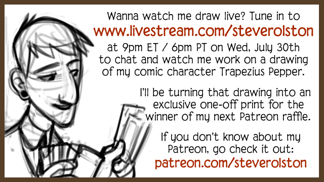 Watch me Draw on Livestream